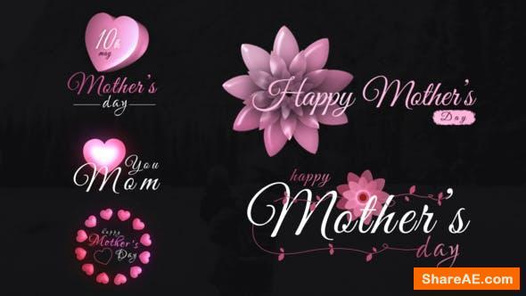 Videohive Mothers Day Sweet Titles
