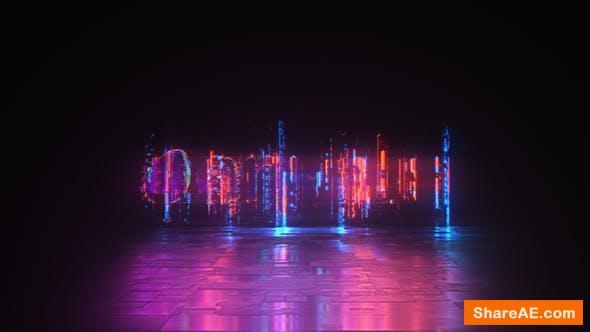 Videohive Cyber Glitch - Neon Logo Reveal
