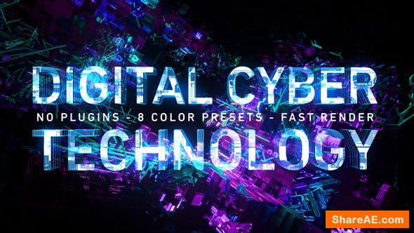 Videohive Digital Cyber Technology Logo Reveal. 8 Color Presets.