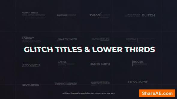 Videohive Modern Glitch Titles & Lower Thirds