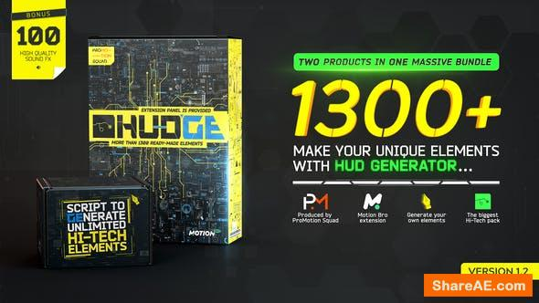 Videohive HUDGE | Generator of Hi-Tech Elements | 1300+ UI HUD
