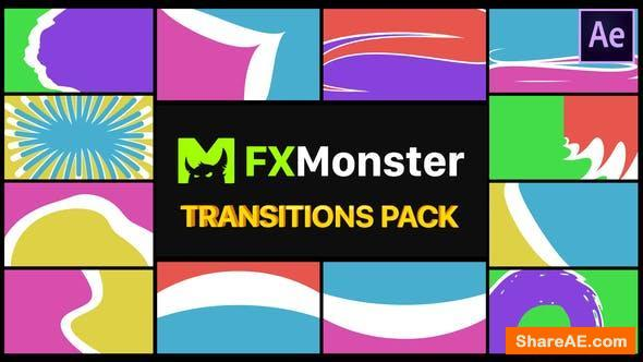 Videohive Colorful Transitions Pack | After Effects