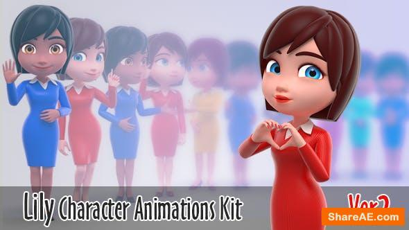 Videohive Lily - Character Animation Kit