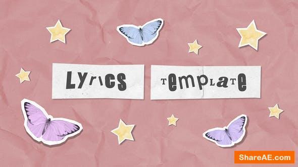 Videohive Lyrics Scrapbook