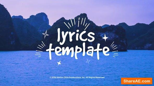 Videohive Lyrics Template 23069592