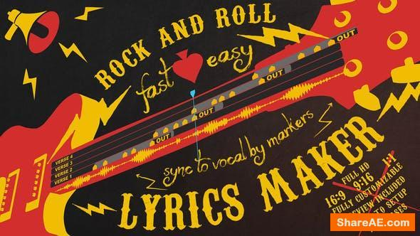 Videohive Lyrics Maker - Rock and Roll