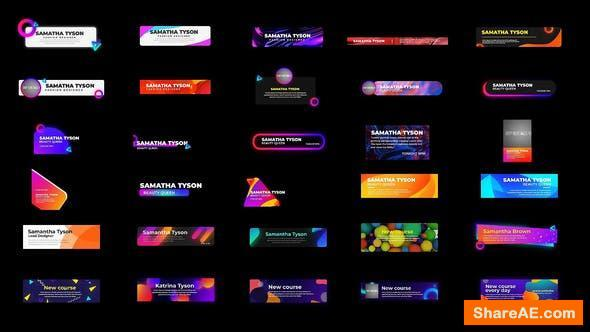 Videohive Pop Lower thirds