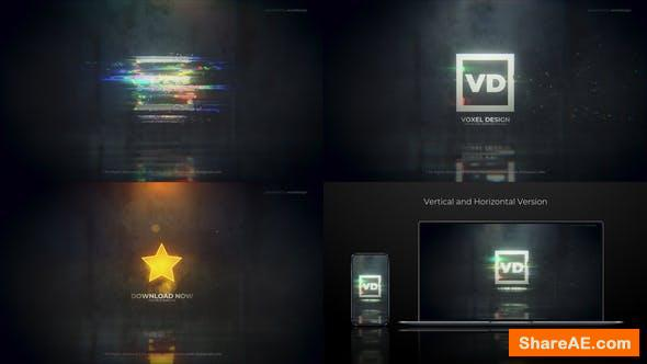 Videohive Glitch Dissolve Logos Transitions Reveal