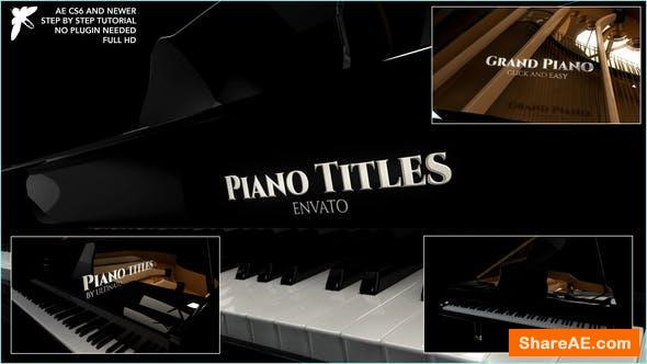 Videohive Piano Titles