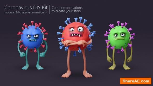 Videohive Coronavirus Character Animation DIY Kit