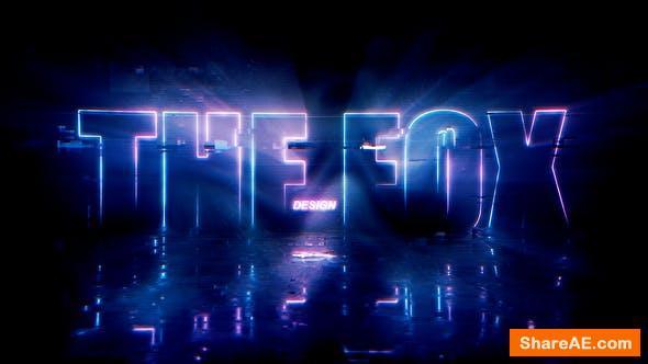 Videohive Neon Glitch Logo Reveal