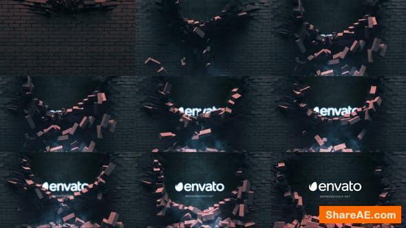 Videohive Falling Bricks Logo
