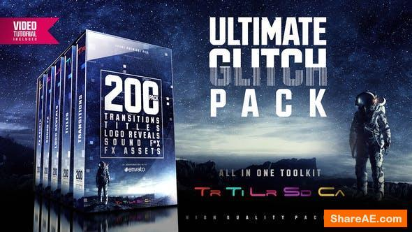 Ultimate Glitch Pack: Transitions, Titles, Logo Reveals, Sound FX - Premiere Pro