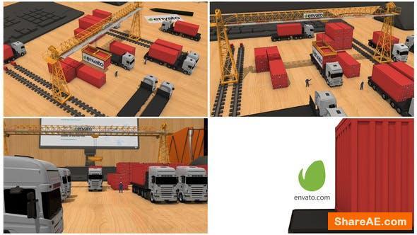 Videohive Transport company Intro