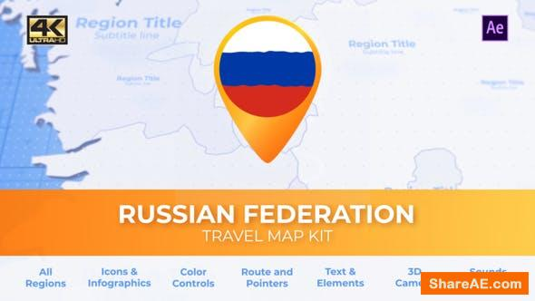 Videohive Travel Map Russia - Russian Federation Map