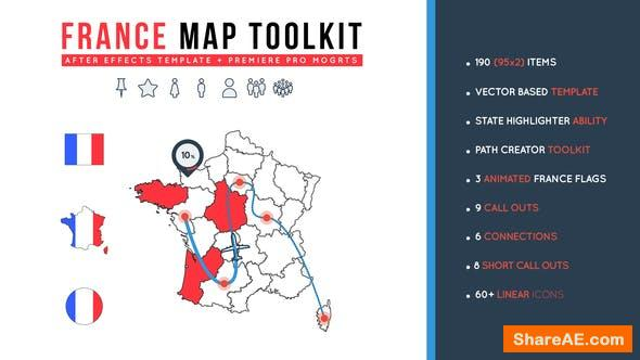 Videohive France Map Toolkit