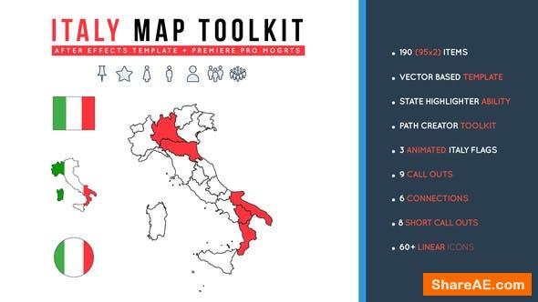 Videohive Italy Map Toolkit