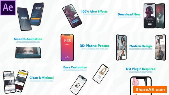 Videohive 3D Smartphone Presentation for After Effects