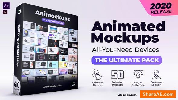 Videohive Animated Mockups Ultimate Pack