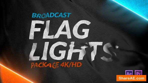 Videohive Broadcast Flag Lights