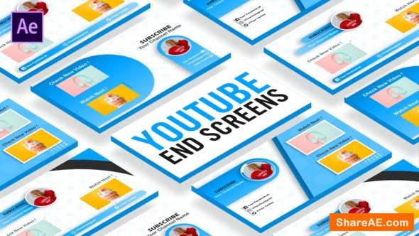 Videohive YouTube End Screens 26784884