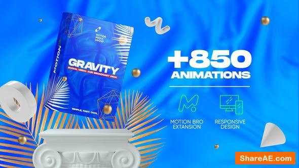 Videohive Gravity | Social Media and Broadcast Pack
