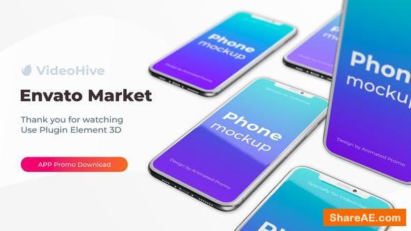 Videohive Phone App 11 Pro S20 Ultra App Promo Mockup