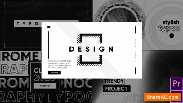 Videohive Monochrome Typography