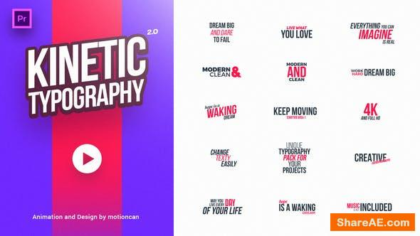 Videohive 40 Kinetic Titles - Premiere Pro