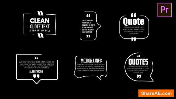Videohive Clean Quotes - Premiere Pro