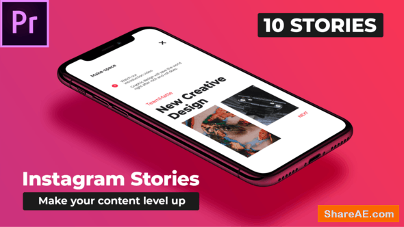 Videohive Mood Instagram Stories - Premiere Pro | Essential Graphics