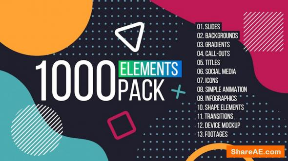 1000 Elements. Graphics Tool Pack - Motion Array