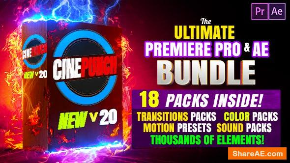 Videohive CINEPUNCH (BUNDLE) - Transitions I Color LUTs I SFX - 18 PACKS - 9999+ Asse ...