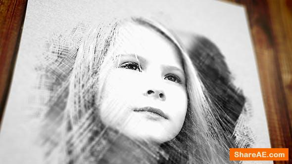 Videohive Pencil Drawing