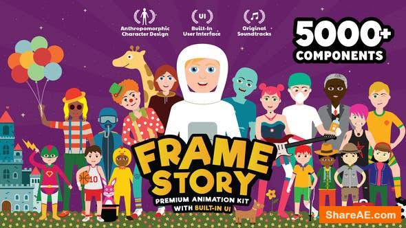 Videohive FrameStory I Explainer Character Animation Toolkit with Built In UI
