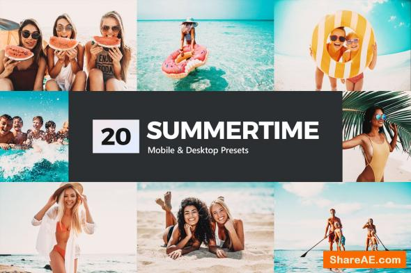 20 Summertime Lightroom Presets and LUTs