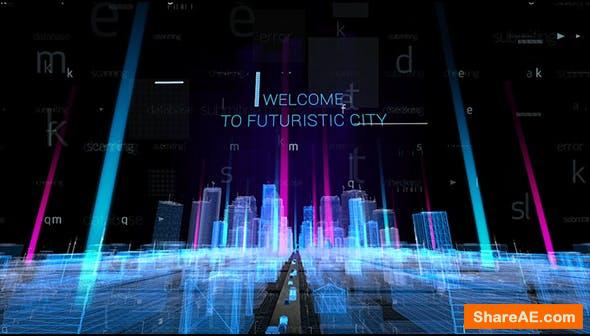 Videohive Hologram City Titles