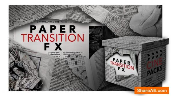 Paper Transition FX - CinePacks