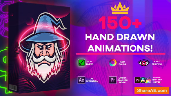 Ultimate 150+ Animation Pack - Max Novak / Media Monopoly - AE Plugin - Premiere .MOGRT
