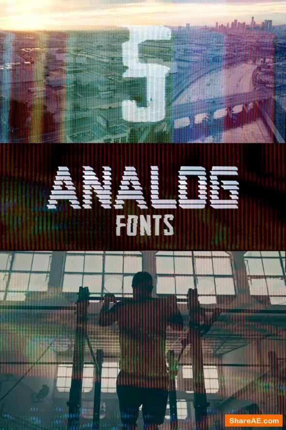 Analog Fonts - Master Filmmaker