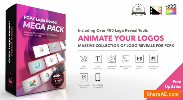 FCPX Logo Reveal Mega Pack - Pixel Film Studios
