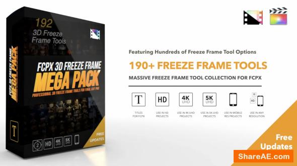 FCPX 3D Freeze Frame Mega Pack - Pixel Film Studios