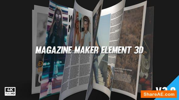 Videohive Magazine Maker Element 3D v3