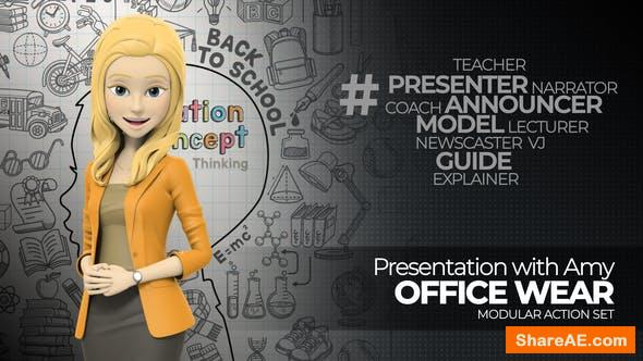 Videohive Presentation With Amy: Office Wear