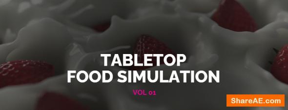The VFX School TableTop Food Simulation Vol 01