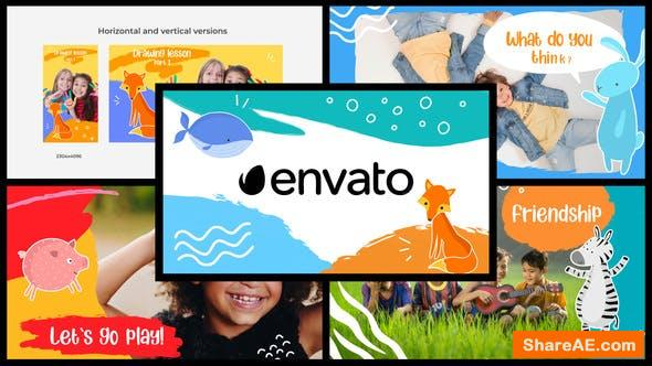 Videohive Cartoon Kids Slideshow || After Effects