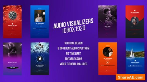 Videohive Social Media Audio Visualizers, Vertical Design