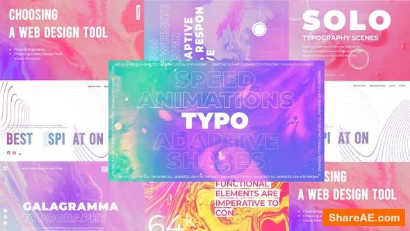 Videohive Galagramma typography pack