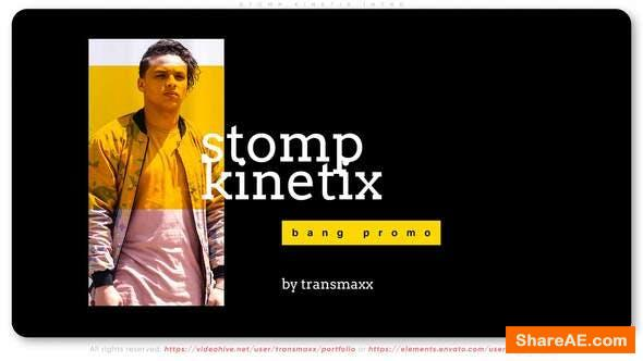 Videohive Stomp Kinetix Intro
