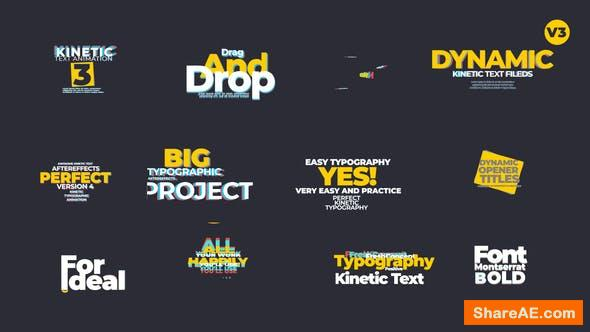 Videohive Kinetic Text Animation V3